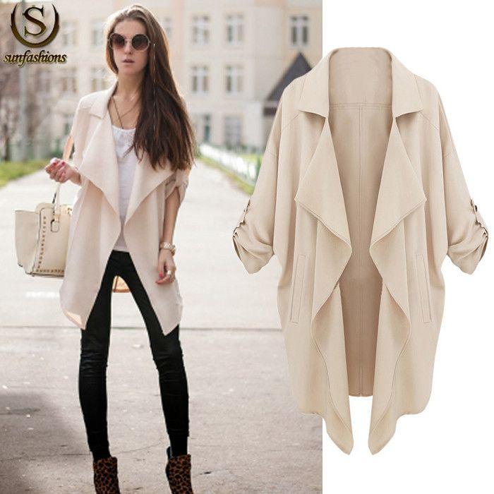 2015 Sale Women'S Spring Coats Plus Size Casual Cardigan ...