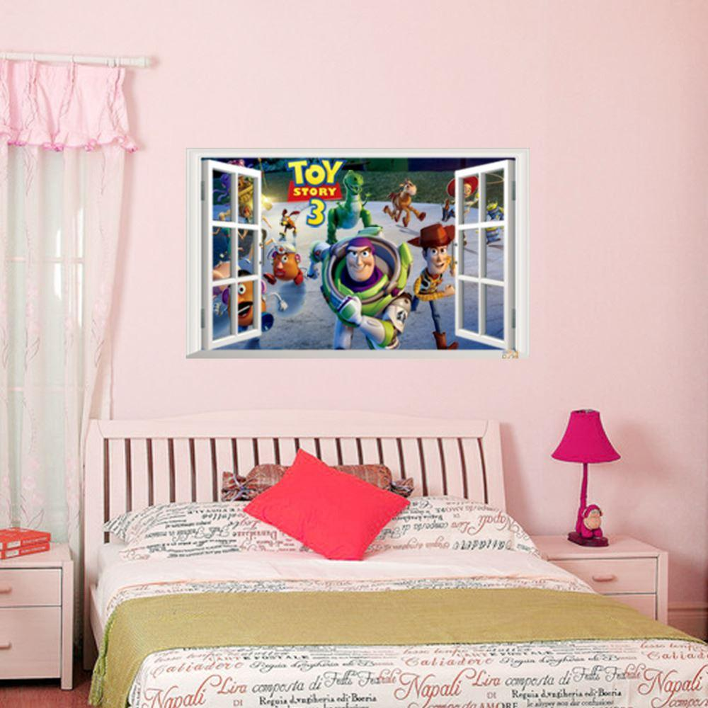 Best Selling Toy Story 3 Cartoon 3D Window Scenery Toy Story 3 Wall Decals  Sticker Home Nursery Kids Rooms Decor ZYPA1403 Room Wall Decoration Room ... Part 87