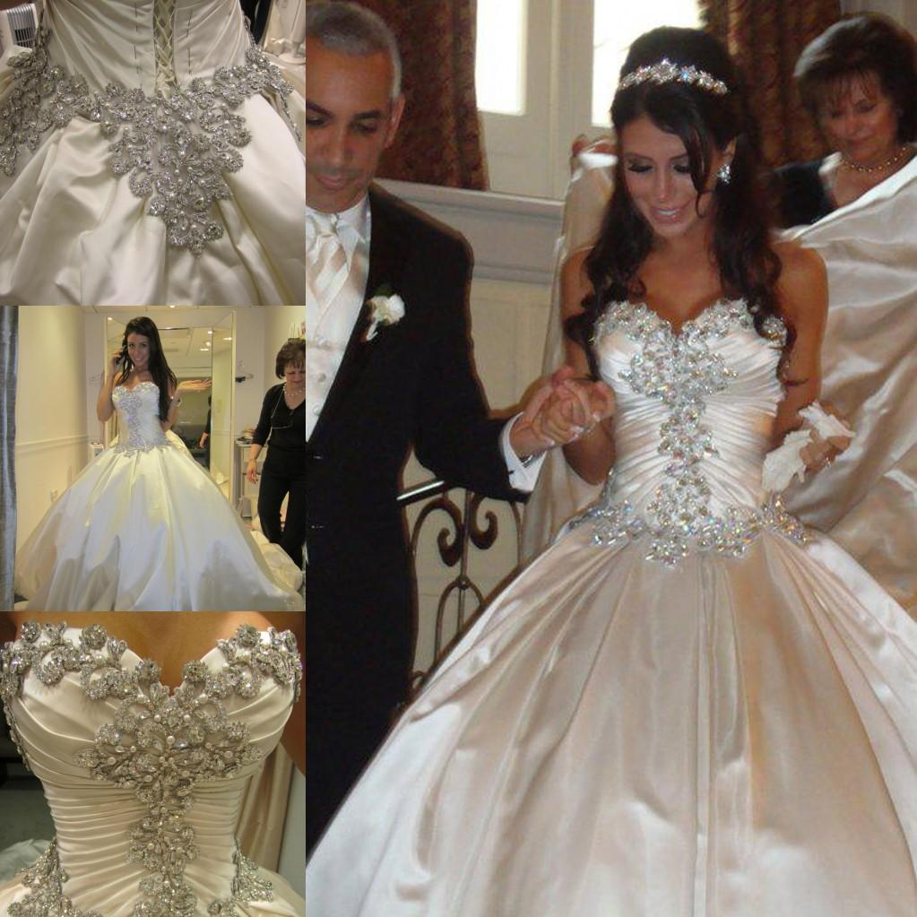 2015 Luxurious Wedding Dresses Ball Gown Sweetheart