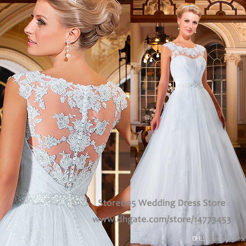 2016 Bling White Plus Size Wedding Dresses Court Train