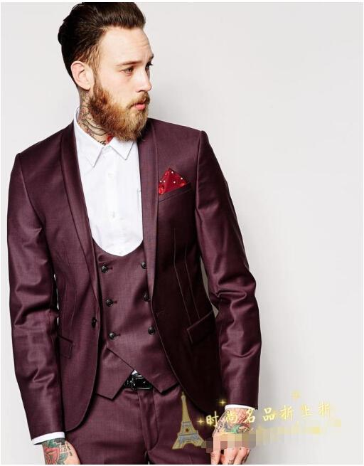 High Quality Groom Man Suit Three Piece Suit Wedding Garment ...