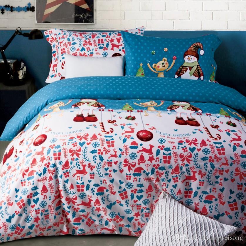 4 styles brushed cotton flannel christmas bedding set. Black Bedroom Furniture Sets. Home Design Ideas