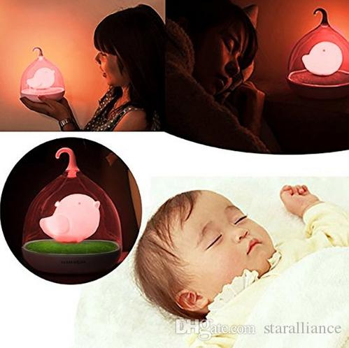 2017 decor hut childrens, toddler and baby bird night light, pink ...