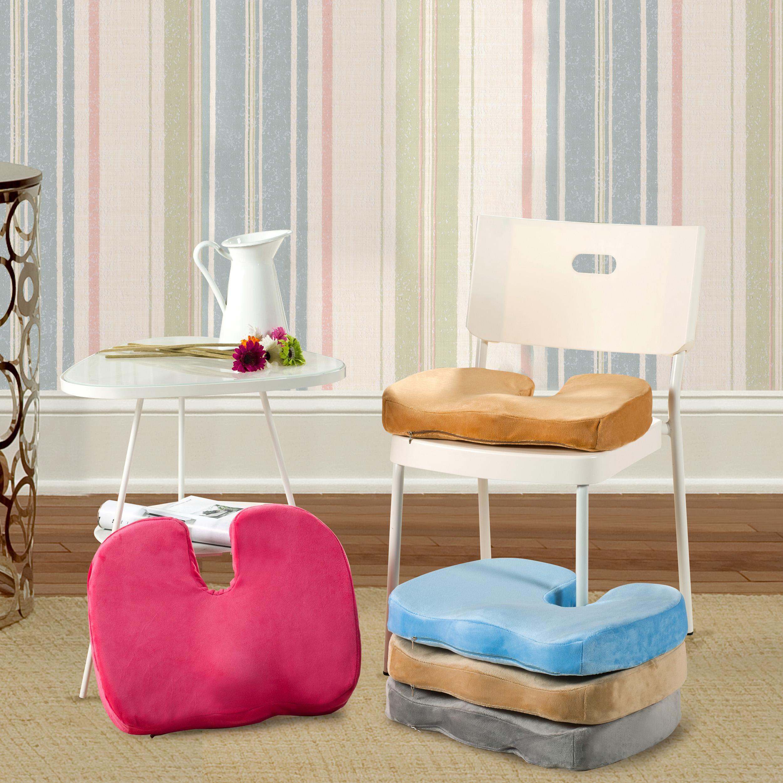 Velvet Cushion Nice Bottom Velvet Memory Foam Seat Cushion For Chair Car Offi