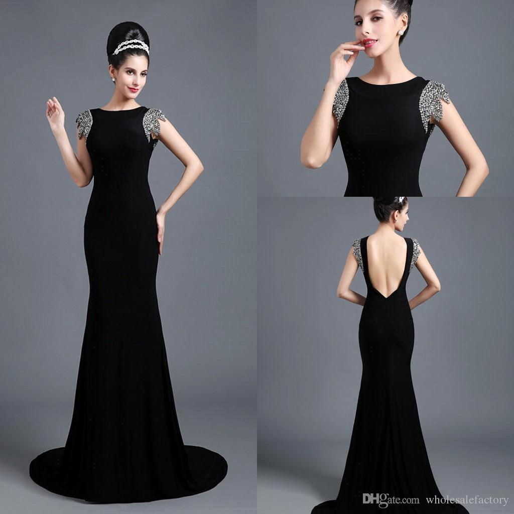 Elegant Black Evening Dress - Colorful Dress Images of Archive