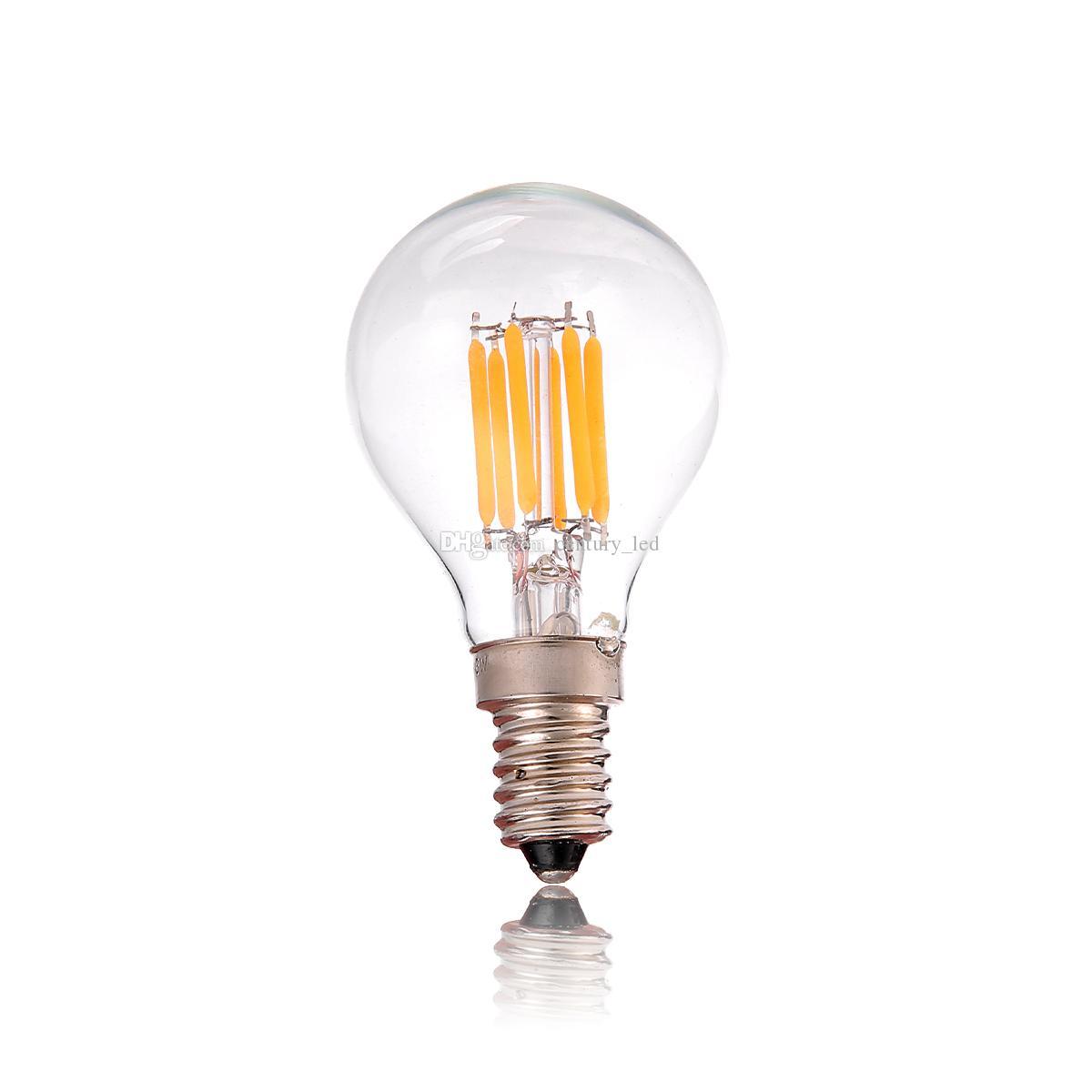 retro led filament bulb 3w edison g40 globe clear style warm white e12 e14 base dimmbale 100w. Black Bedroom Furniture Sets. Home Design Ideas
