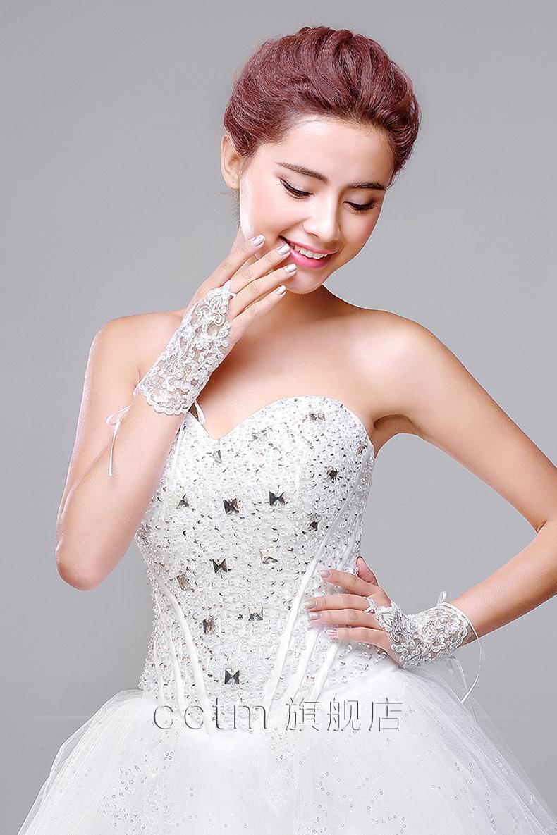 New short bridal gloves 2016 elegant gloves junior lace for Wedding dresses with gloves