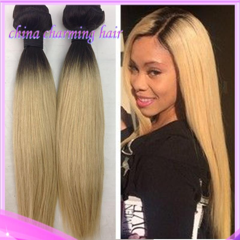 Promotion brazilian virgin ombre hair extensions two tone human brazilian virgin ombre hair extensions two tone human hair 1b613 brown blonde dark root ombre silky straight hair grade 7a ombre silky straight hair dark pmusecretfo Gallery