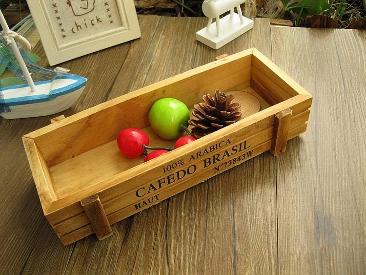 Wholesale zakka wooden box small wooden storage box sewing for Wooden craft supplies wholesale