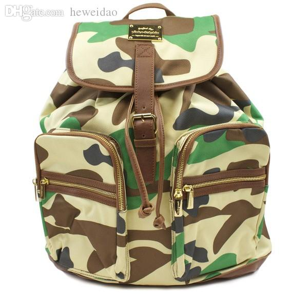 Wholesale 2015 New Sale Backpack Pink Dolphins Camo Travel School ...