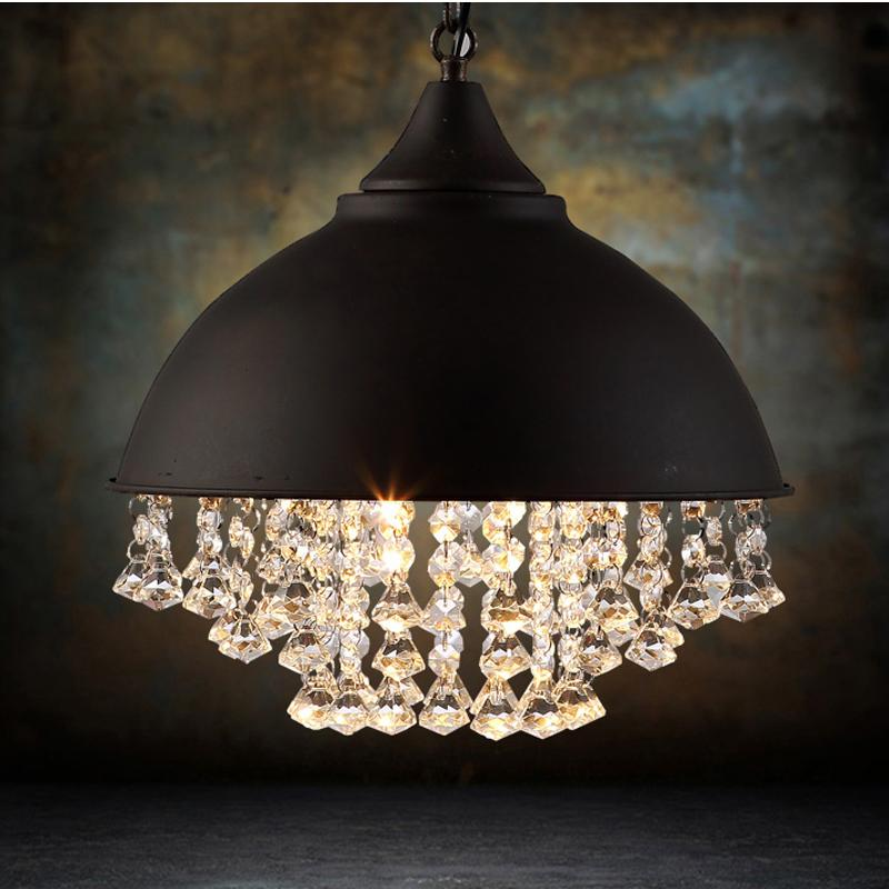 Vintage Edison Industrial Crystal Pendant Lamps Wrought