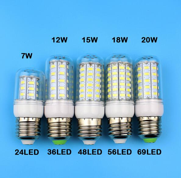 e27 gu10 b22 e14 g9 led lamps smd 5730 7w 12w 15w 18w 220v 110v led corn led bulb christmas. Black Bedroom Furniture Sets. Home Design Ideas