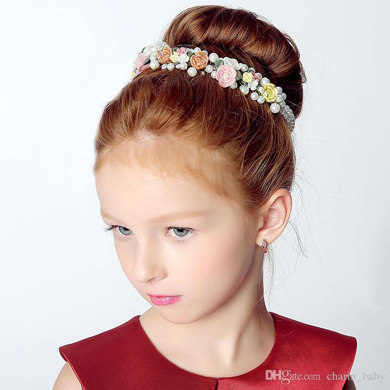 Children Head Wreaths Flower Girls Party Princess Christmas Party Wedding Hair Accessories