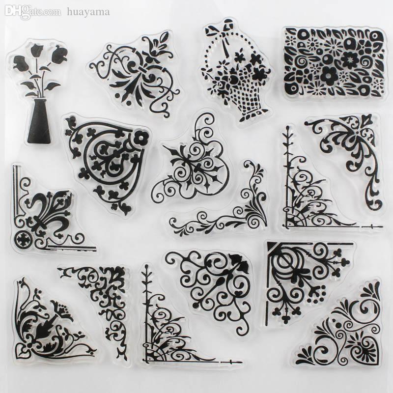 Wholesale Decora Flower Vine Design Transparent Stamp Diy ...