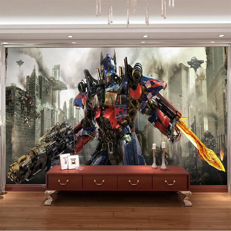 Transformers photo wallpaper 3d optimus prime wall mural for 3d wallpaper for boys