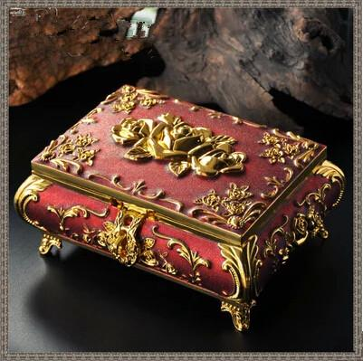 2017 diana luxury non real wooden jewelry box with mirror for Princess diana jewelry box