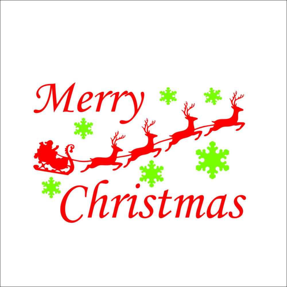 Merry christmas quotes and red deer picture window film for Christmas decoration quotes