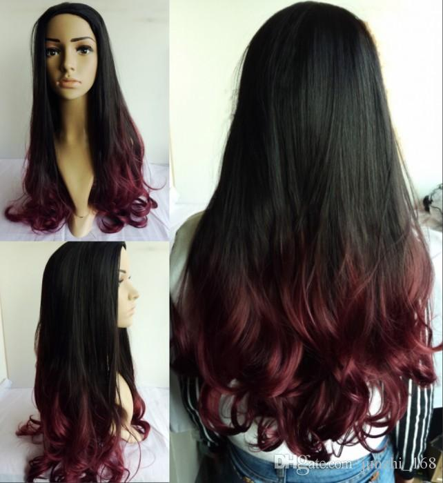 Awe Inspiring Natural Black Wine Red Synthetic Hair Prodcuts Hot Sale Fashional Short Hairstyles For Black Women Fulllsitofus