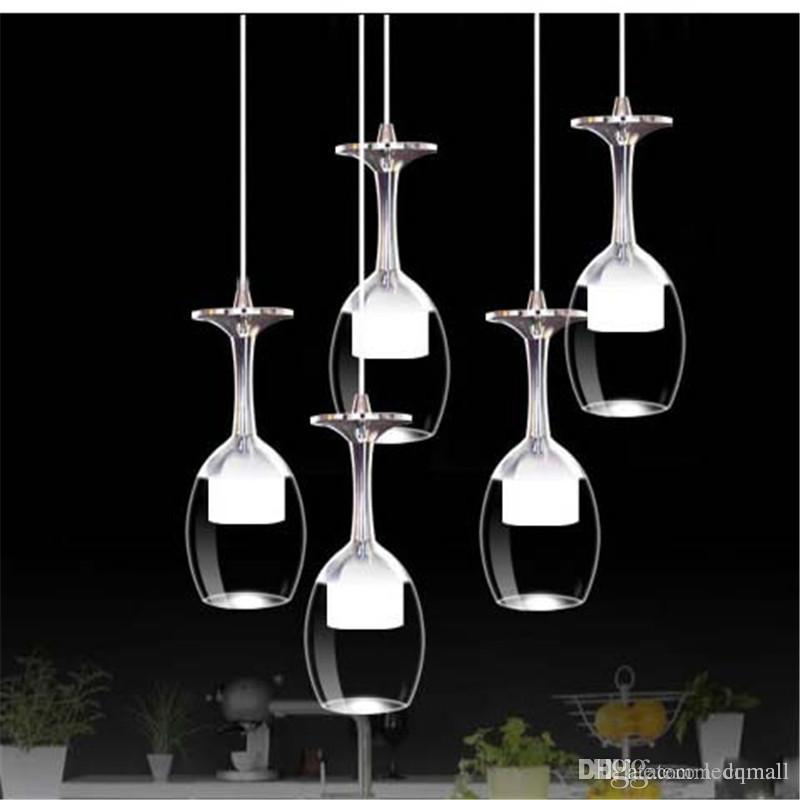 Acrylic Glass Chandelier 3w Wine Glass Shape Light Led