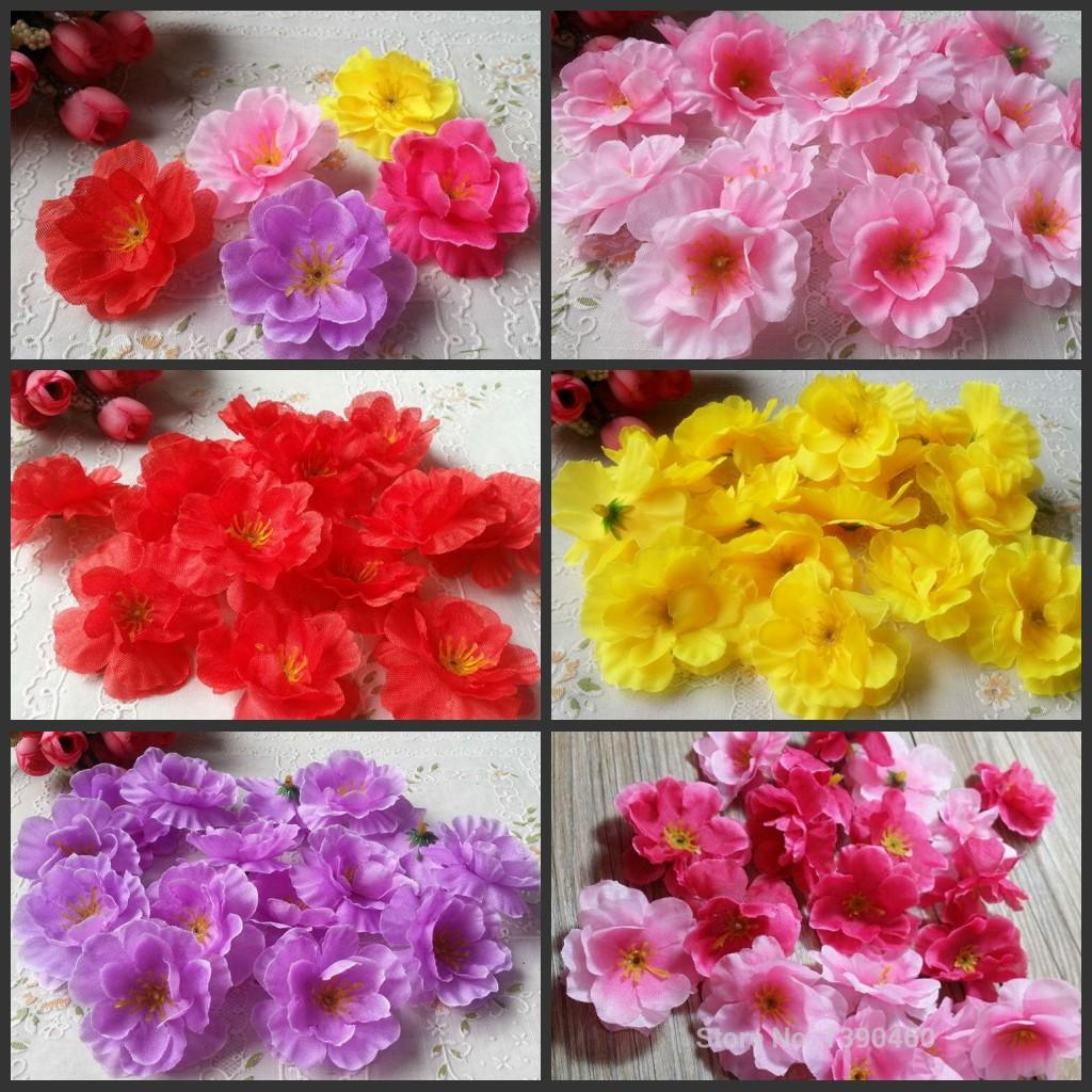 45cm artificial silk cherry blossom flower heads plum flower 45cm artificial silk cherry blossom flower heads plum flower heads for diy home wedding party decorations silk cherry blossom flower heads online with dhlflorist Image collections