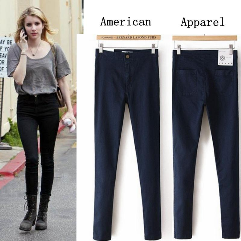 2016 New Jeans Women High Waist Jeans Woman Cal Denim Skinny Women