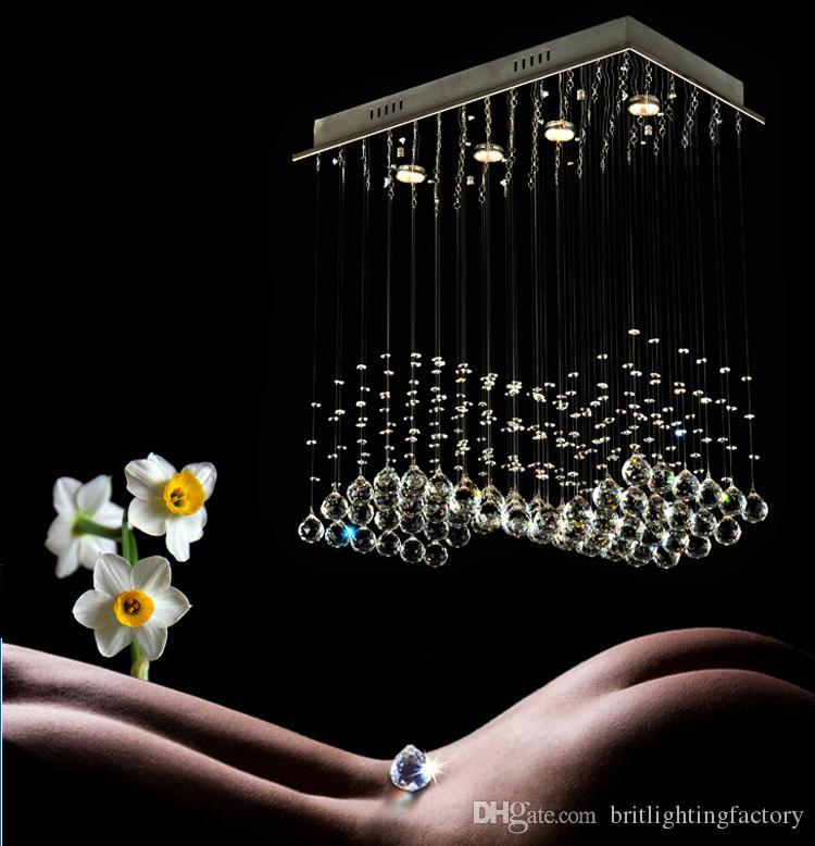 Wave Crystal Chandelier For Kithen Modern Dining Room Led Living Ceiling Chandeliers Bedroom