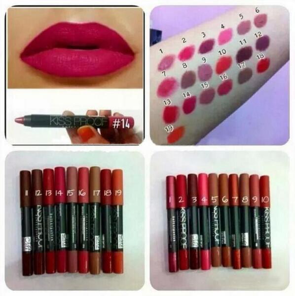 Sexy Moisture Waterproof Kiss Proof Long Lasting Crayon Lips Batom ...