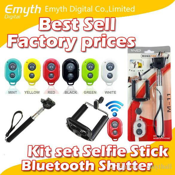 3 in 1 kit set bluetooth remote shutter phone clip camera mobil phone selfie stick monopod for. Black Bedroom Furniture Sets. Home Design Ideas