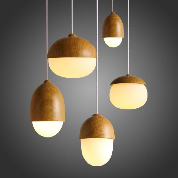 wood vintage design lights solid wood pendant lamps bar. Black Bedroom Furniture Sets. Home Design Ideas