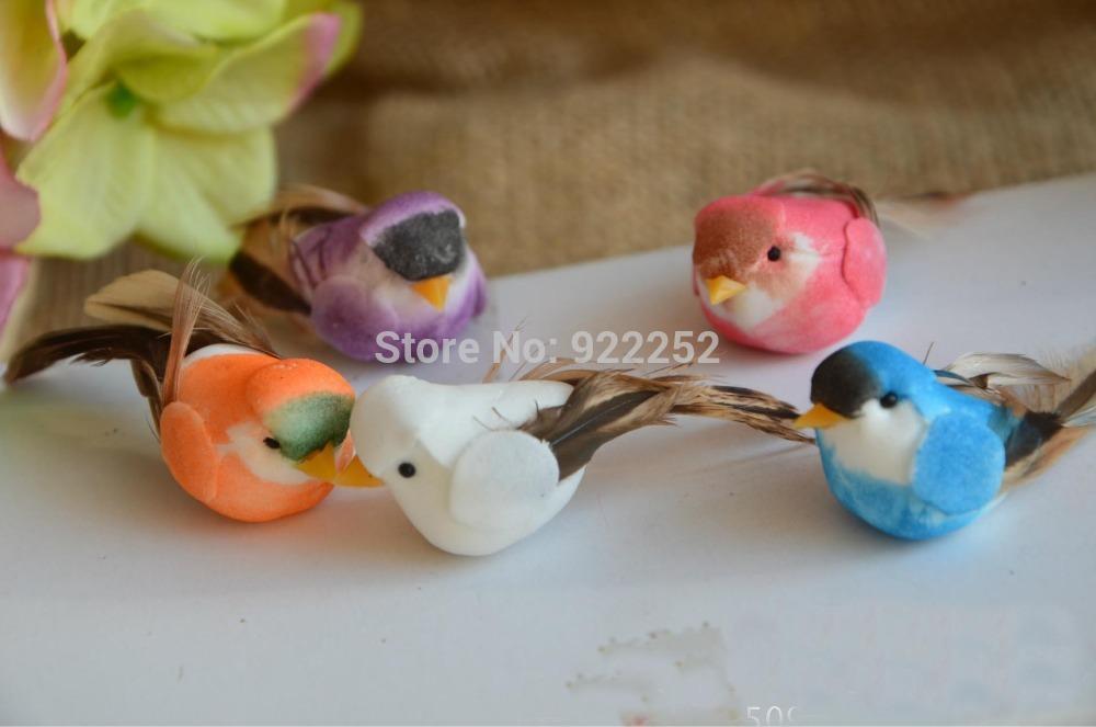 5 2cm handmade artificial foam simulation birds small for Artificial birds for decoration