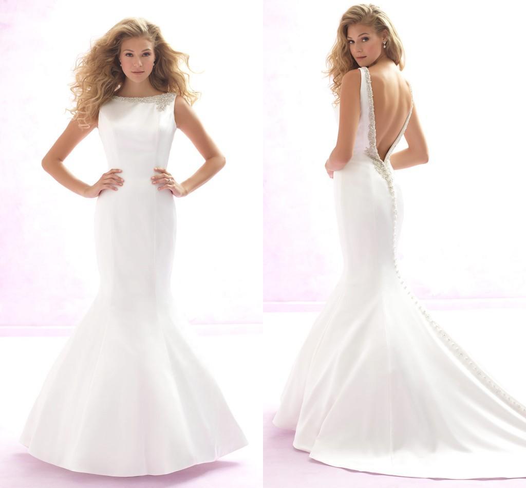 Love Wholesale 2015 Vintage Mermaid Wedding Dresses Sheer