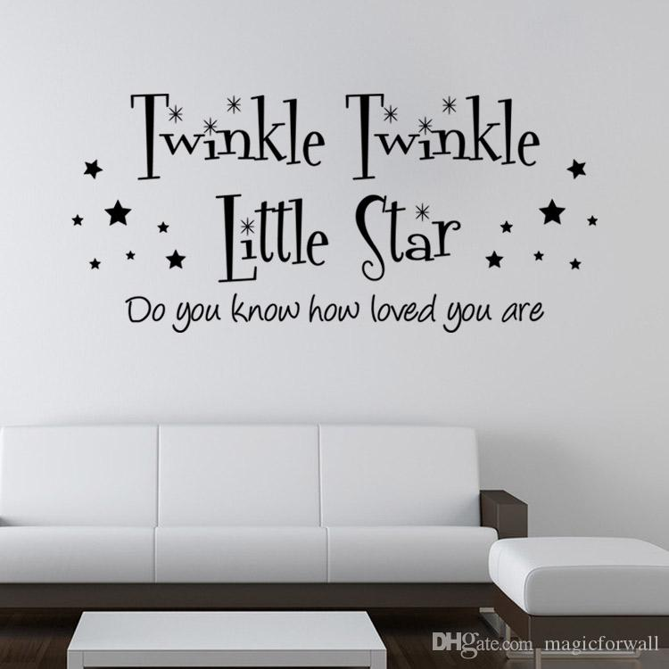 Twinkle Twinkle Little Star Wall Quote Baby Kids Room Decoration Decal  Sticker Art Mural Home Poster Wall Decor Twinkle Twinkle Little Star Quote  Decal Baby ... Part 62
