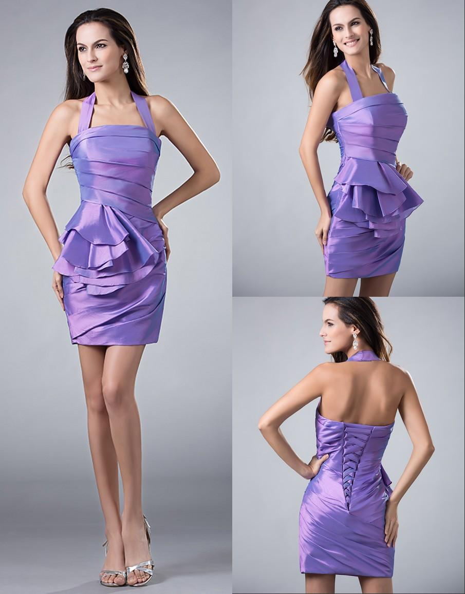 Lavender Short Mini High School Homecoming Dresses 2016 Simple ...