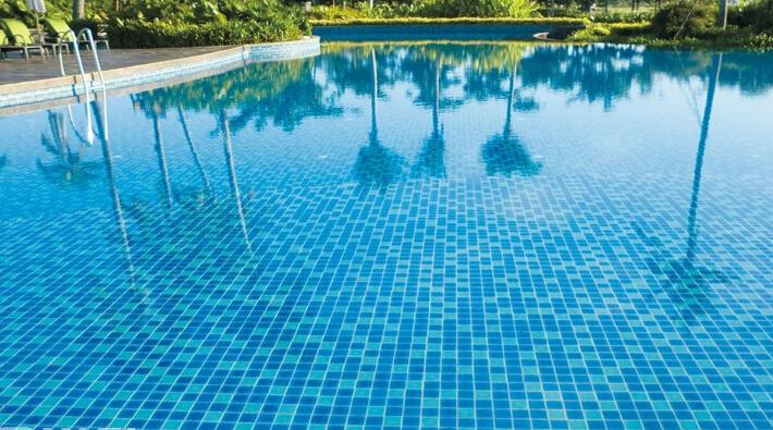 Glass Mosaic Tile Pool Mosaic Sky Blue Color Mosaic Tile