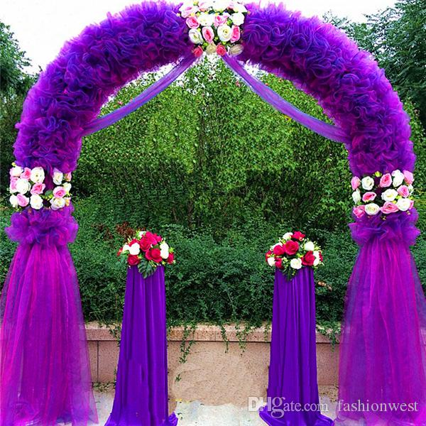 Wedding Arch Wedding Decorations Props Way Garden Quin 2.5m*2.5m Eanera  Party Flowers Balloon Decoration White Metal Spend Circular Arch Doo  Fashion Wedding ...