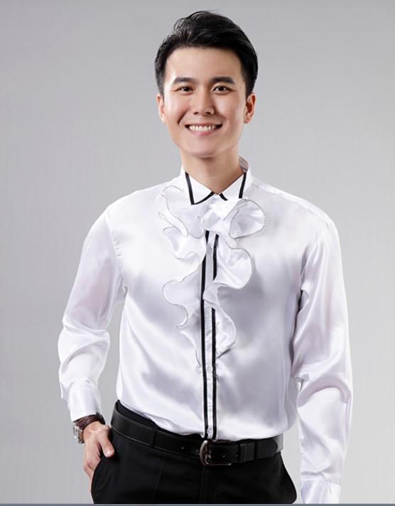 Sleeve Dress Shirts Groom