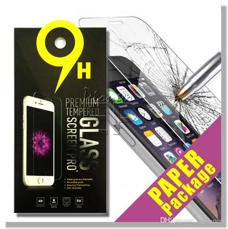 For Iphone 7 Tempered Glass Screen Protector For Iphone 7Plus Iphone 6 Galaxy ON5 S6 LG Aristo 0.33mm 2.5D 9H Anti-shatter Paper Package