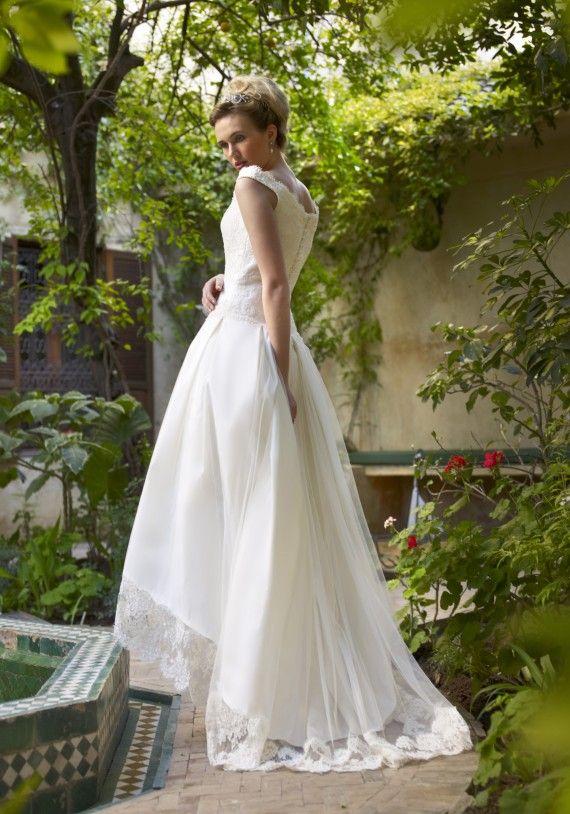Discount lace vintage wedding dresses 2015 a line hi low for Sell vintage wedding dress