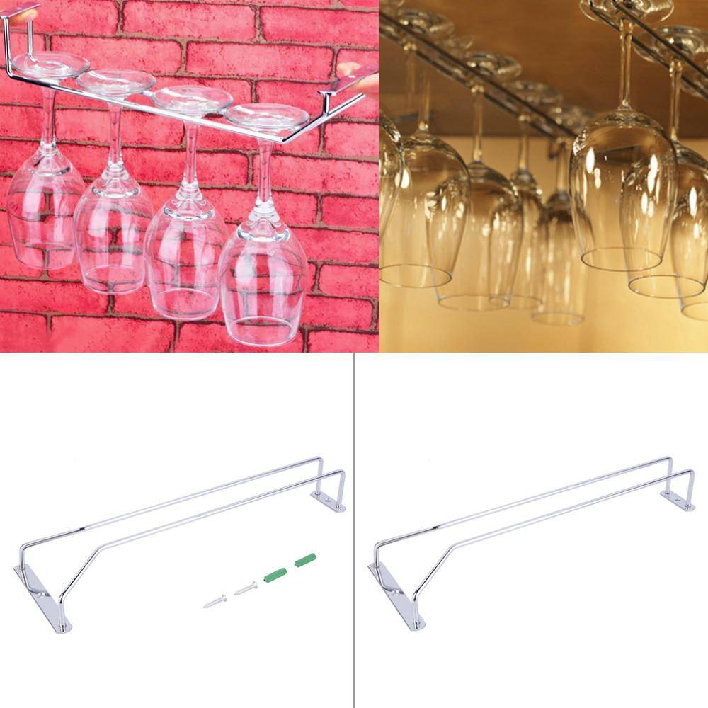 Wine Glass Hangers Under Cabinet Online Cheap New Stainless Steel Wine Glass Holder Stemware Rack
