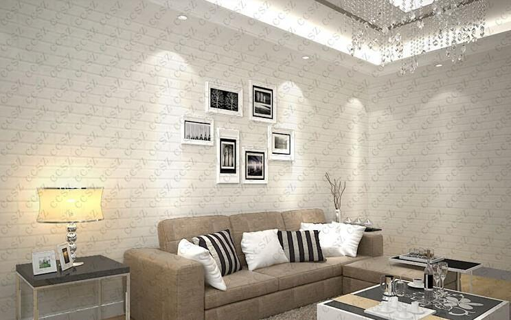 Hot thickening white brick wallpapers for walls rustic tv for White brick wallpaper bedroom