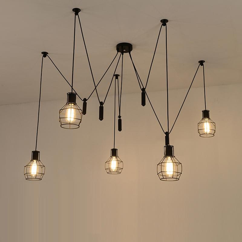 Compre ara a luces colgantes led ara a luz moderna l mpara - Lamparas arana modernas ...