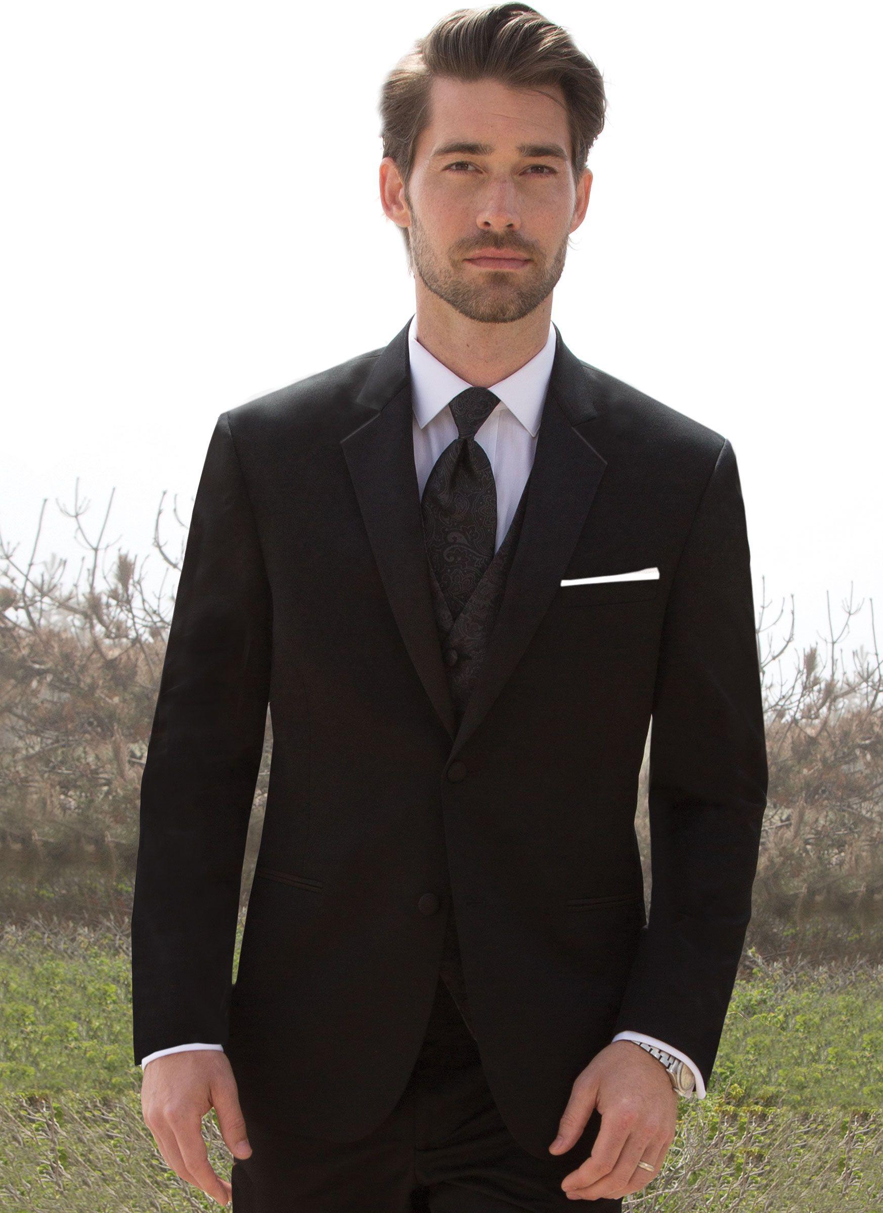 Black Suits Wedding Suits For Men 2015 Groomsmen Suits Groom ...