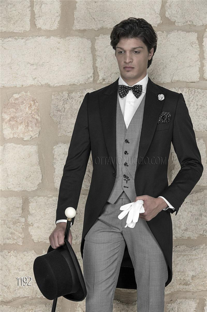 Brand New Black Tailcoat Light Grey Vest Pants Custom Made Groom ...