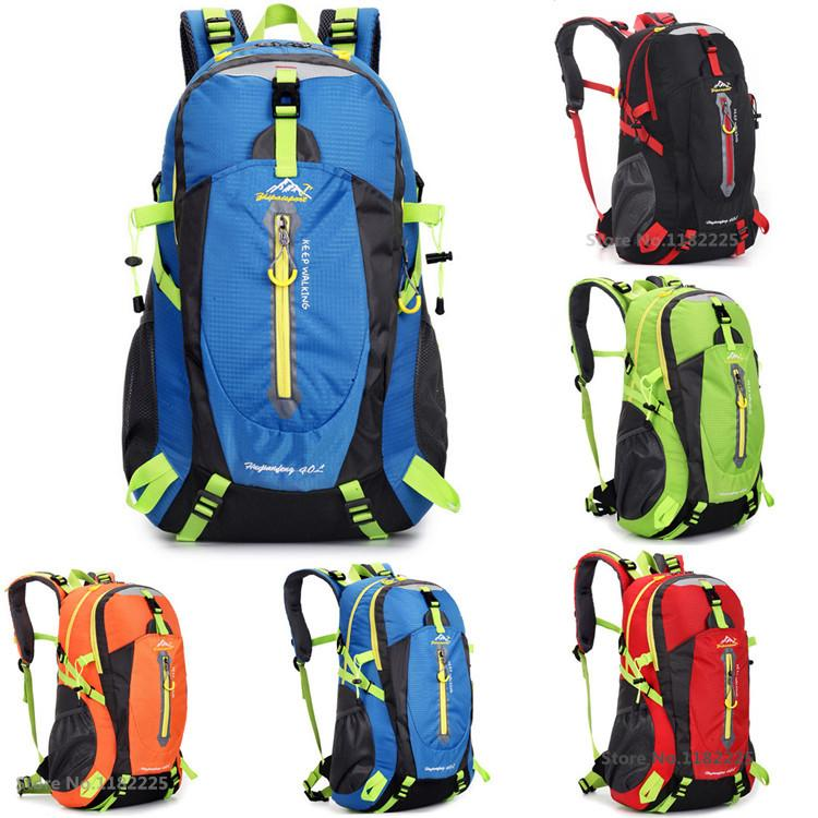 40l Waterproof Women&Men Travel Backpack Outdoor Mountain Camping ...