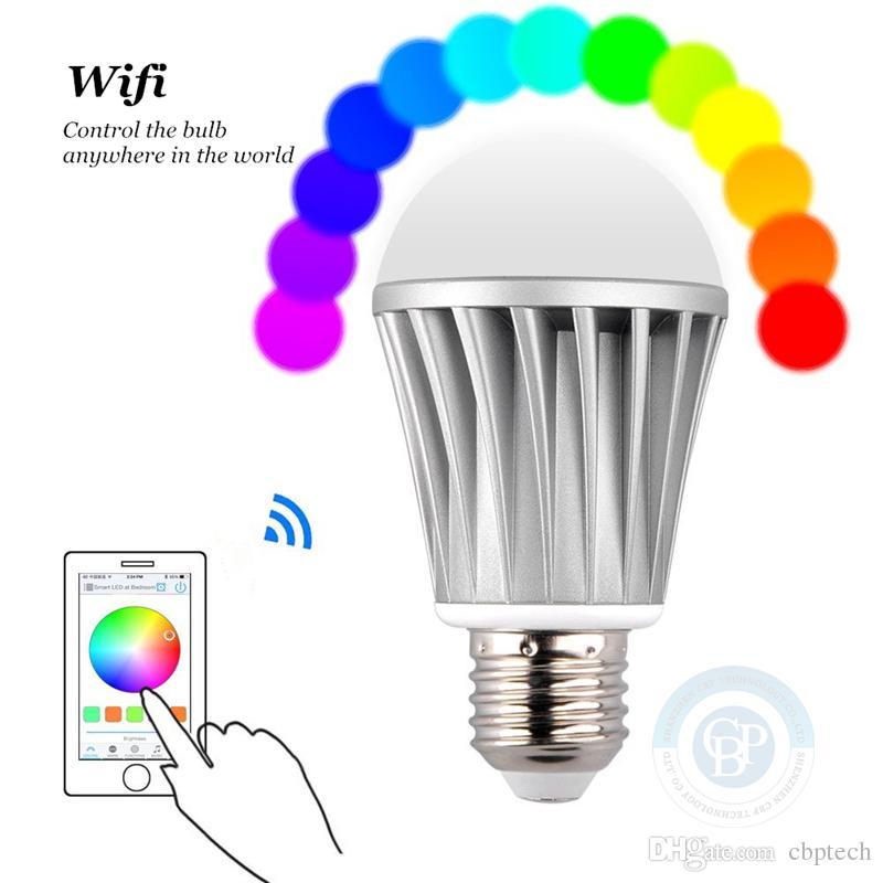 Best Wifi Light Bulb: LED Smart Bulb 7.5w E27 RGB LED WIFI Light Bulb Color  Temperature+Brightness Adjustable Light Play 100~260V Android IOS Free App  Wifi Led Lights Wifi Led ...,Lighting