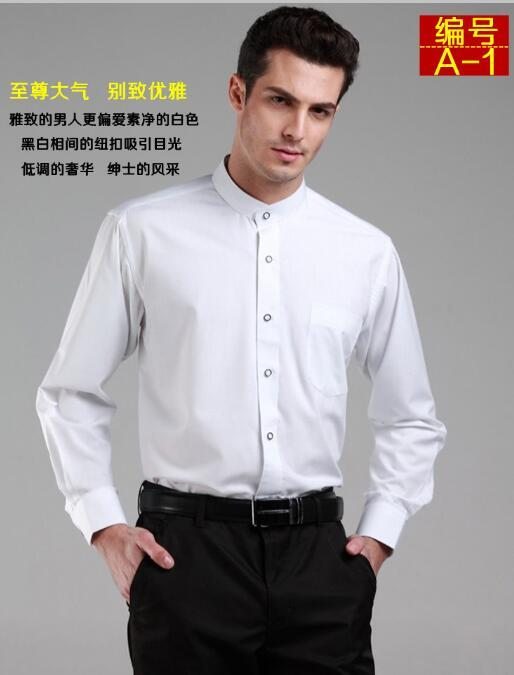 Classic Style Business Casual Shirt Collar Men Casual Long Sleeve ...