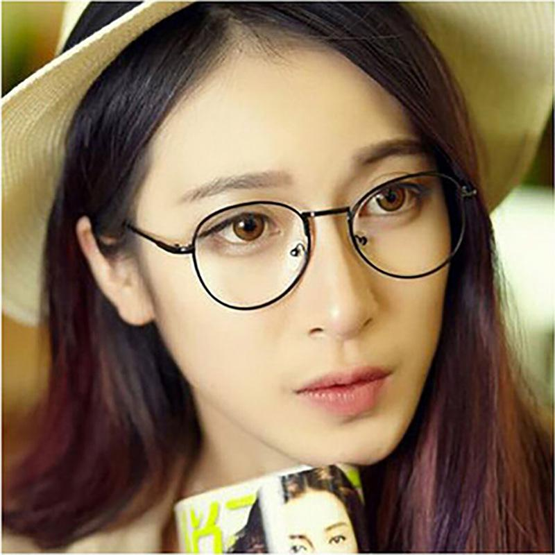 womens fashion glasses frames  2017 L\u0026D 2015 Women Fashion Round Metal Glasses Frame Tide Ultra ...