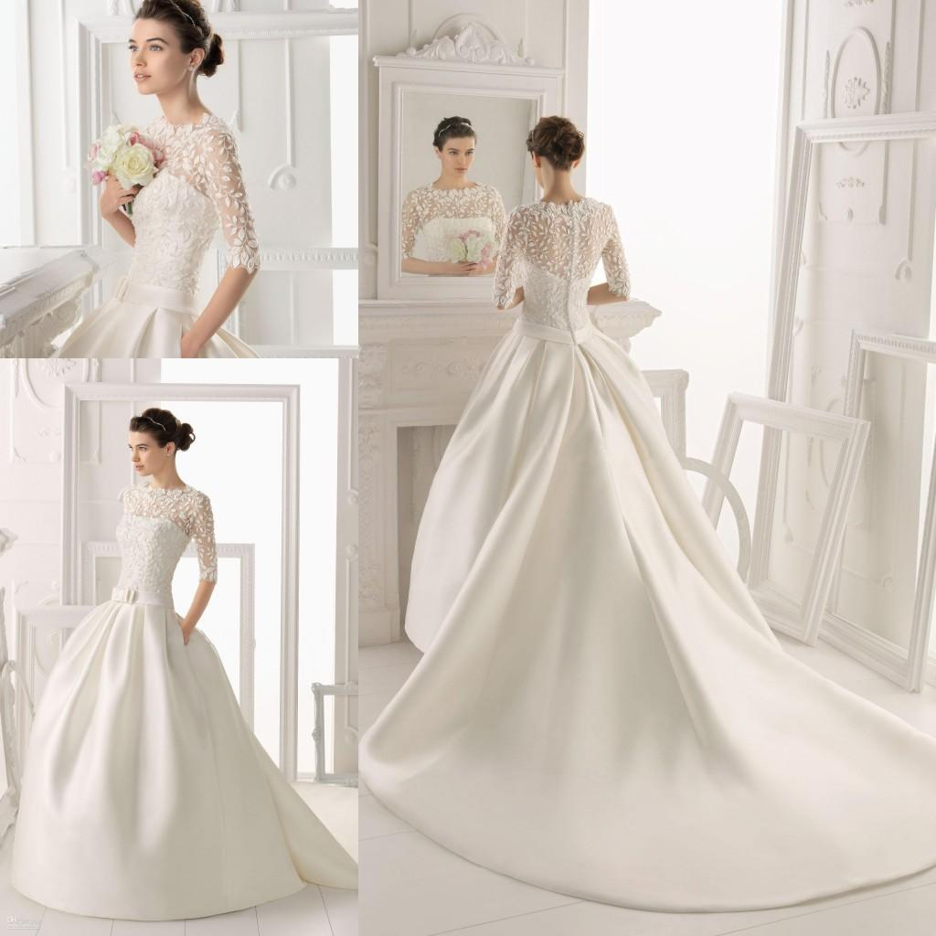 Bridal gowns with detachable trains discount wedding dresses for Short wedding dress with removable train