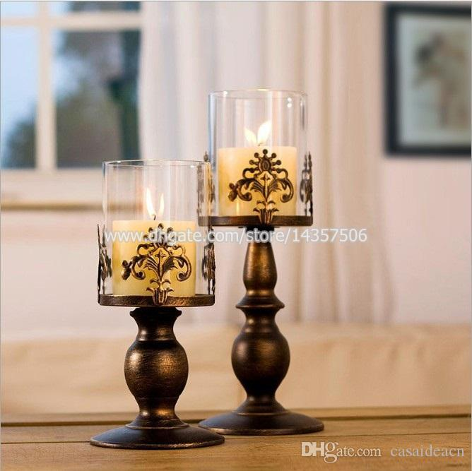 12 5 Inch Medium Vintage Iron Candle Holder Latern W
