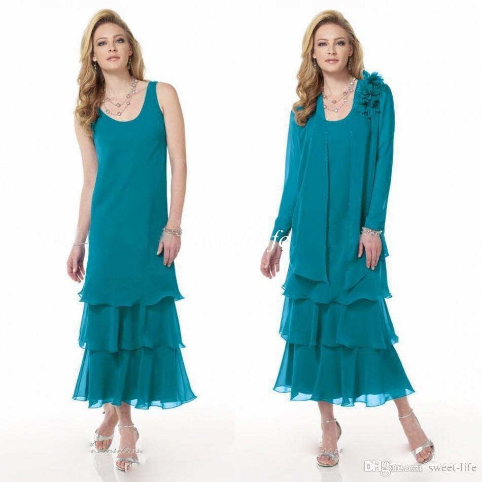 Mother Of The Bride Dresses Tea Length Teal